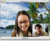 iChat Video window