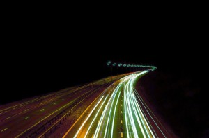 Highway Lights In Motion